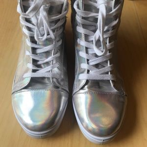 Holographic High Top Qupid Sneakers